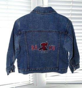 Джинсовая курточка 92-98см