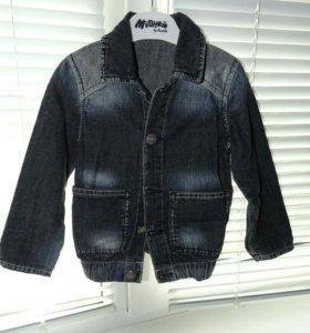 Джинсовая курточка 92см