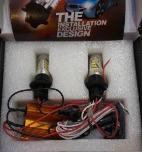 LED DRL+Turn Light цокольt20, w21w