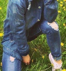 Джинсы и джинсовая куртка