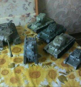 Коллекционные танки, ручная сборка