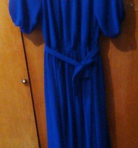 Платье  Новое в пол с поясом