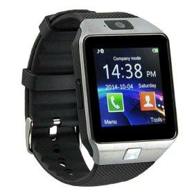 Умные часы с камерой Smart Watch DZ09 новые