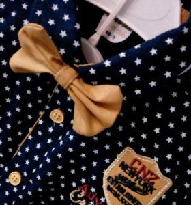 Новый Комплект:рубашка,брюки,подтяжки и бабочка.