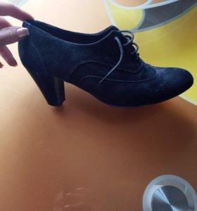 Туфли натуральная замша 38! Новые