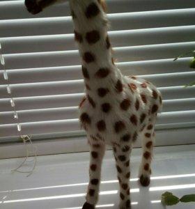 Меховая фигурка жирафа