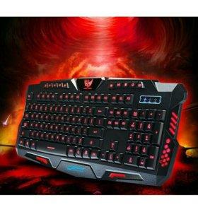 Игровая клавиатура M200 коврик в подарок