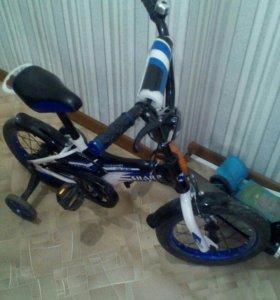Велосипед детский black aqua