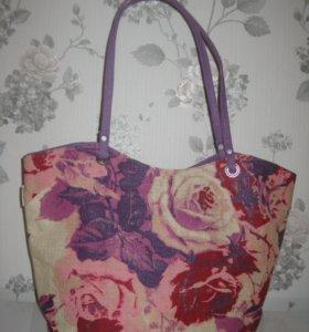 Новая сумка из джута