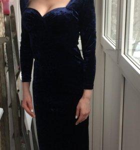 Новое платье, синий бархат