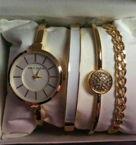 Набор ANNE KLEIN часы +браслеты