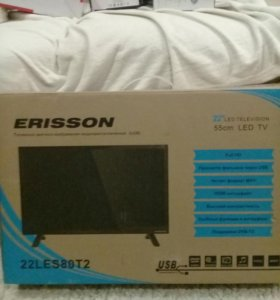 Телевизор Erisson 22LES80T2, в коробке, гарантия