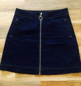 Юбка джинсовая размер 44