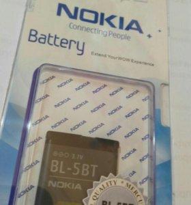 АКБ для Nokia BL-5BT