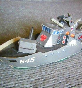 Бумажная модель военноморское судно