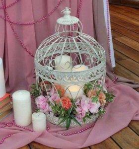 Клетка кованая декор свадьба