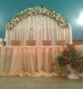 Украшение для стола жениха и невесты