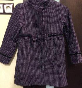 Пальто для девочки 134размер