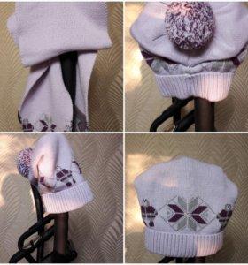Комплект шапка +шарф