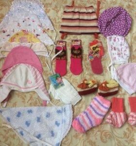 Чепчики,косынка,шапочки,носки