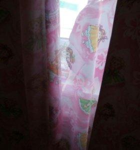 Комплект штор для девочки