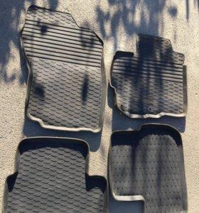Резиновые коврики в Мицубиси Лансер Х