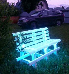 Скамейка пластиковая с подсветкой