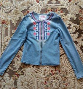 Джинсовая куртка рост 152 см