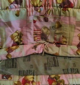 Матрас+бортики+комплект постельного белья