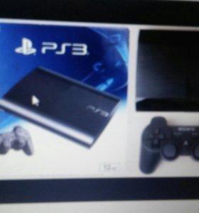 PS3 super slim на 12GB +1 джостик и провода