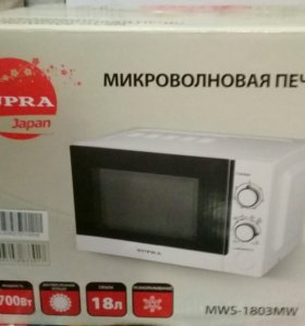 Микроволновка Supra mws-1803ms, новая, в коробке