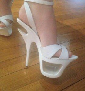 Туфли босоножки натуральная кожа