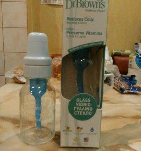 Бутылочка для кормления против коликов 2 штуки