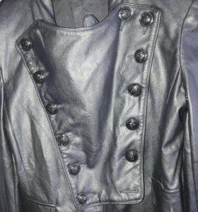 Кожанный пиджак-куртка
