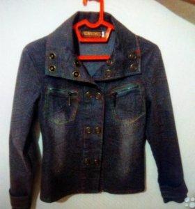 Джинсовая куртка легкая рост 152