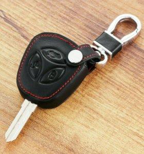 Чехол кожаный на штатный ключ ЛАДА. 500р.