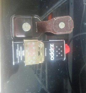 Зажигалка бензин, чехол, бензин в комплекте