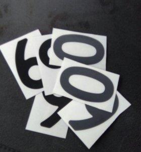Нано-наклейки на номера автомобиля