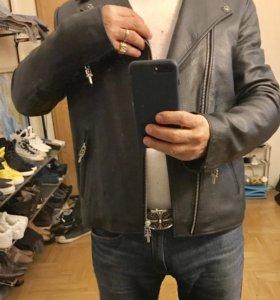 Кожаная куртка Chrome Hearts