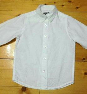Рубашка белая детская новая