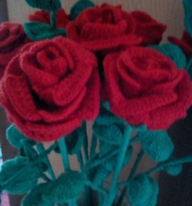 Цветы вязаные