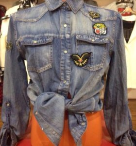 Продам рубаху джинсовую, новая, размер 42-44