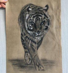 Рисунок тигр