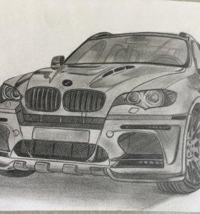 Рисунок BMW X6 m