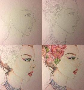 Рисую портреты карандашом на заказ