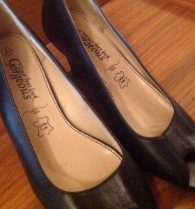 Туфли женские, натуральная кожа, новые