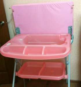 Ванночка с пеленальным столиком 2 в 1
