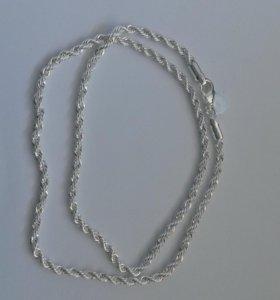 Цепочка плетеная. Серебро. 3 мм.