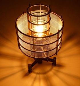Лофт лампа, стимпанк лампа, настольная лампа