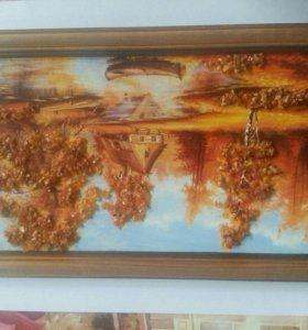 Картина с янтарем.